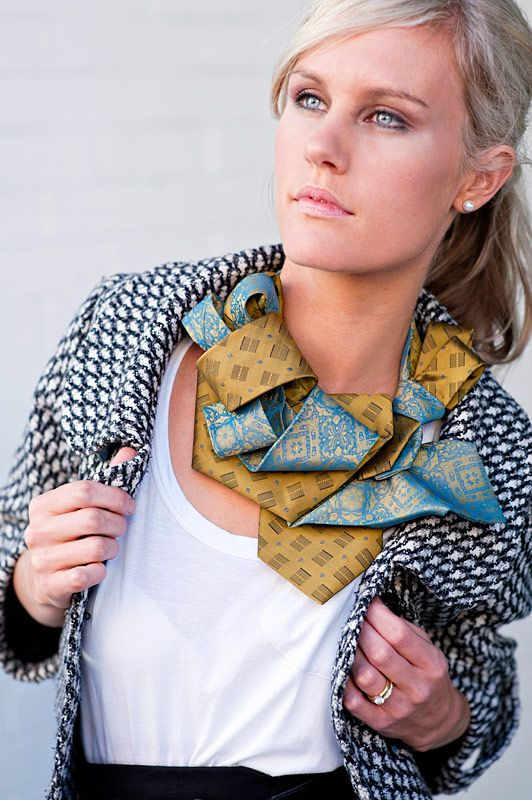 ridiculously cute recycled tie accessories
