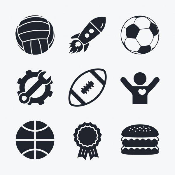 Sport Balls Volleyball Basketball Soccer Stock Vector Sponsored Volleyball Balls Sport Basketball Ad In 2020 Sports Balls Volleyball Soccer