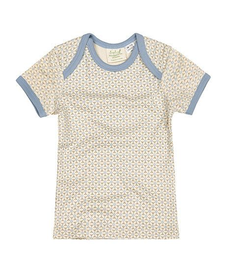 This fun short sleeve t-shirt is exclusively designed by Sapling, an Australian company specialising in 100% organic cotton children's wear.    Starburst. Little Boy Blue. Made from super soft, high quality, double jersey.  100% GOTS certified organic cotton.   Printed with 100% GOTS approved water based dyes that are free from toxic chemicals and heavy metals, a safer choice for babies. Features an envelope neckline for easy dressing. Proudly made in India under fair trade terms and…