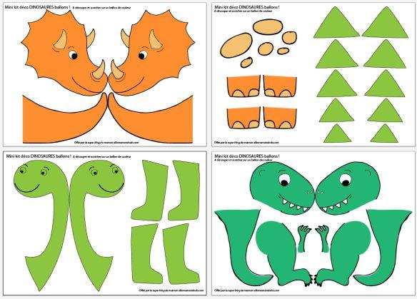 Ma déco d'Anniversaire dinosaure! (PtitePomme 6 ans!) + Printable Dinos Ballons