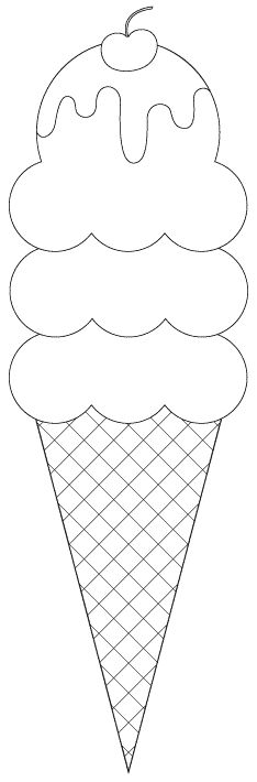 3 scoop ice cream cone digital image (cut files and sentiments as well) -- free from Birds Cards