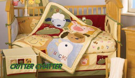 Farm Nursery Theme Baby Crib Bedding Sets Animals Cows