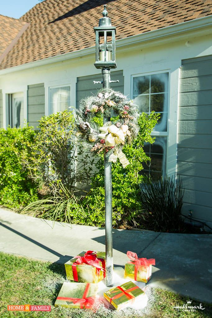 Create a Charles Dickens inspired lamp Post for your front yard this holiday season! Catch Home and Family weekdays at 10/9c on Hallmark Channel!