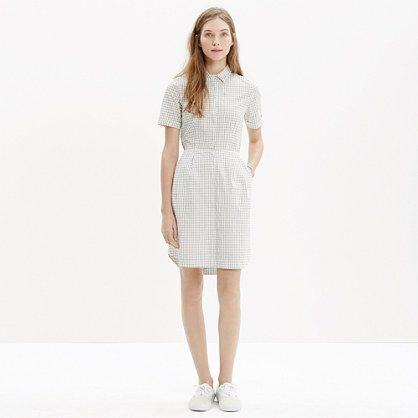 Madewell - Open-Back Shirtdress in Grid Print