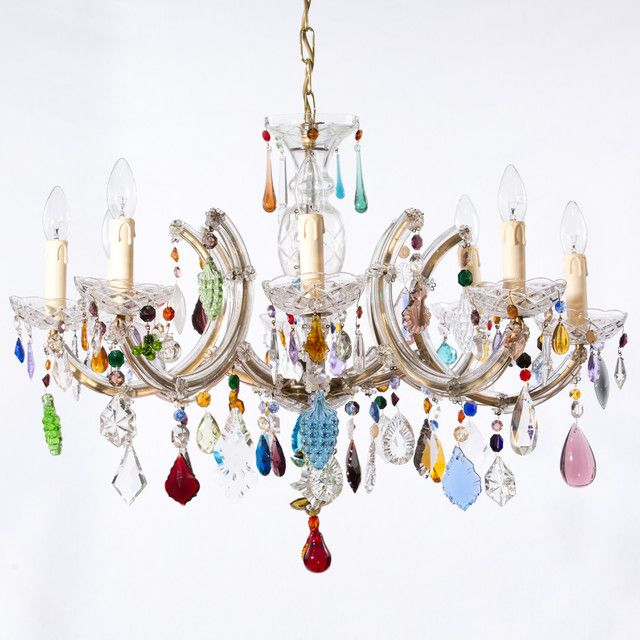 In Here We Have Found Several Different Types Of Funky Chandelier With Colored Glass Design Vintage Chandelier Glass Chandelier Dining Room Colorful Chandelier