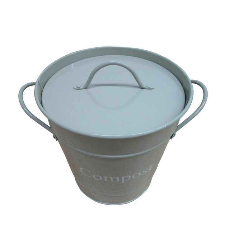 hot sale iron kitchen compost bin with a plastic innertrash bin compost bin