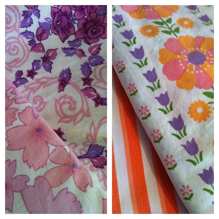 Vintage fabrics used to make peasant dresses