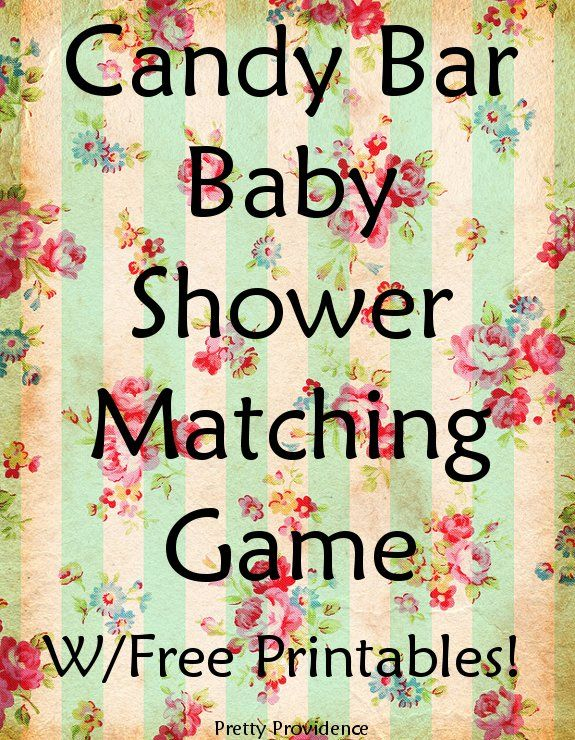 Candy bar baby shower matching game! This game was SO much fun at my sister's shower! The matches are really fun and clever.