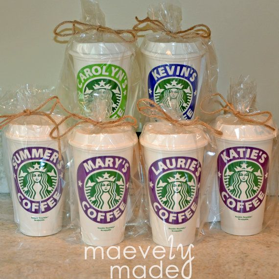 Personalized Reusable Starbucks Cup Gift BPA-Free by maevelymade. Great teacher gift!