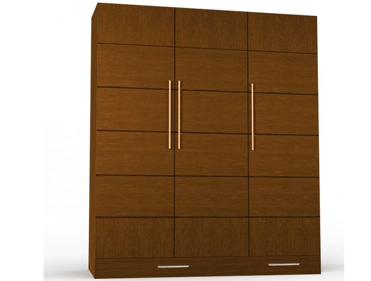 Routering Stripes Design Three Door Wardrobe Id560 - Three Door Wardrobe Designs - Wardrobe Designs - Product Design