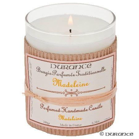 Bougie parfumée 14,95 € Madeleine https://www.durance.fr/bougie-parfumee-madeleine.html