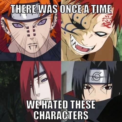 And now they're precious snowflakes - I can't believe I used to hate Gaara, he's one of my many favourite characters now.