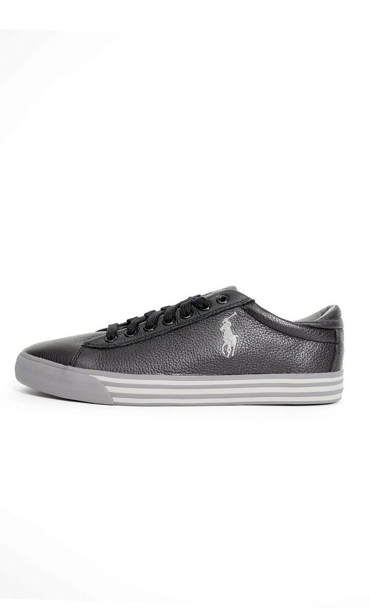 Scarpe Polo Ralph Lauren HARVEY In Pelle Sneakers Basse - Nero - Scarpe Uomo - A85Y2058 - Dursoboutique.com