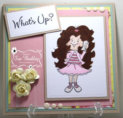ONECRAZYSTAMPER.COM: April Challenge card by Sue using High Hopes Stamps new…