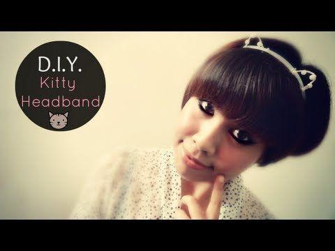 ▶ DIY: Cat Ears Headband Tutorial - YouTube