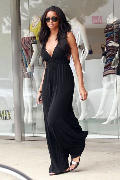 Image detail for -Get the Look: Ciara's Black Halter Maxi Dress « The Fashion Bomb ...