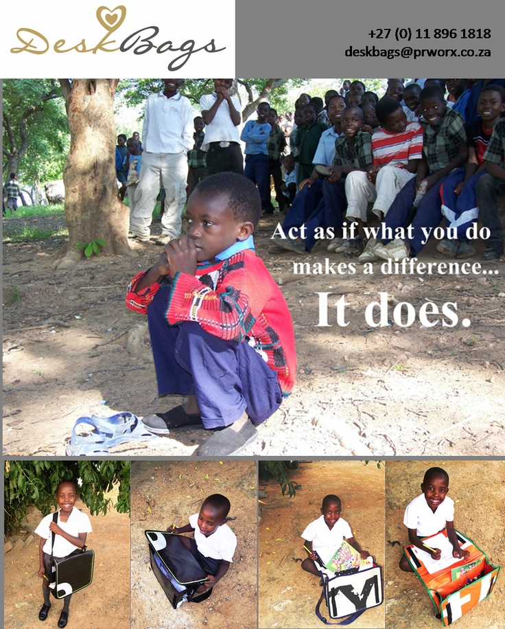 Act as if what you do makes a difference, because it really does...