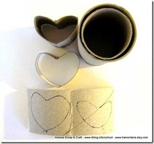 Decorazioni di San Valentino: scatoline a forma di cuore