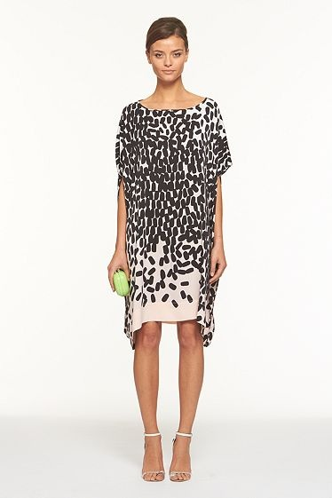 Diane von Furstenberg Diane Hanky Dress In falling marks nude