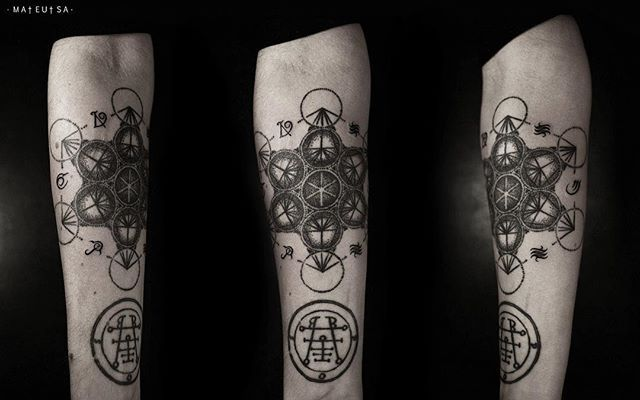 Alphavit #tattoo #ritual #black #style #ring #metathrone #cube #line #art #design #body #ss
