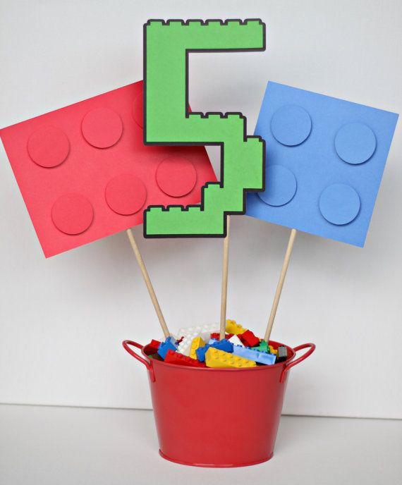 Lego block inspired customized birthday party by