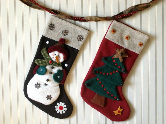 Christmas Stocking Pattern, Snowman Stocking, Christmas Tree Stocking, Christmas Sewing Pattern, Stocking Stuffers, The Stockings Were Hung