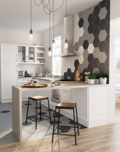 les plus belles inspirations de carrelage hexagonal pour la cuisine habillez le sol et le