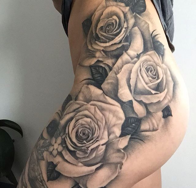 Tattoo Ideas With Roses: 25+ Best Ideas About Rose Tattoo Thigh On Pinterest