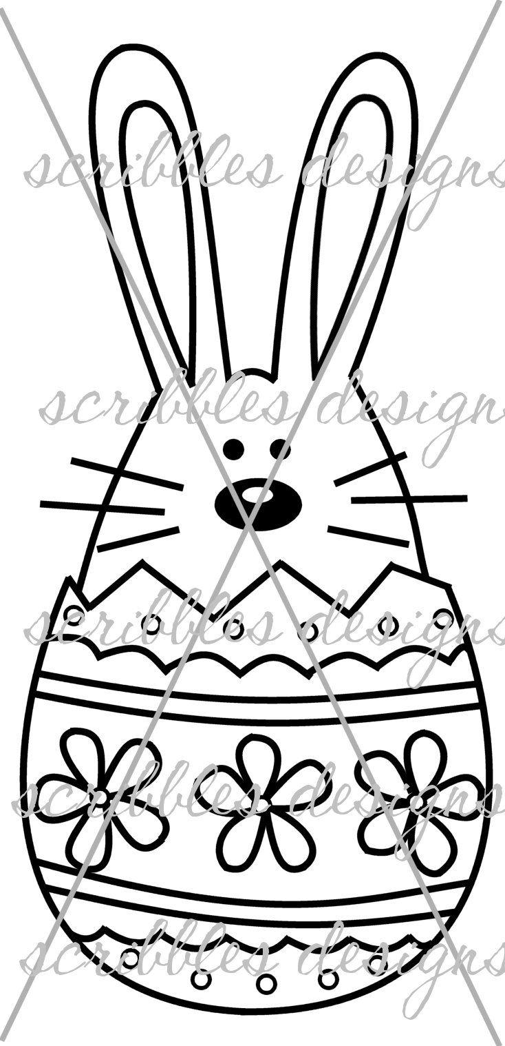 $3.00 Hoppy Egg 1 (http://buyscribblesdesigns.blogspot.ca/2014/03/420-hoppy-egg-1-300.html) #digital stamps #digis #bunny #Easter #egg #scribbles designs