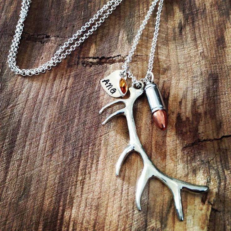 Elk Antler/Bullet necklace