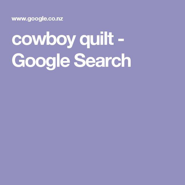 cowboy quilt - Google Search