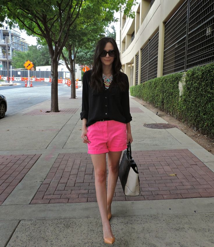 Hot pink shorts! #summerfashion