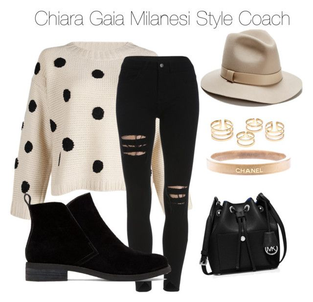 """""""Comfy Saturday"""" by chiaragaia on Polyvore featuring Lucky Brand, Chanel, Lafayette 148 New York, MICHAEL Michael Kors, women's clothing, women's fashion, women, female, woman and misses"""