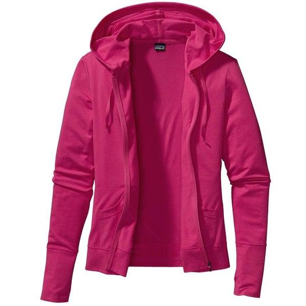 Patagonia Women's Graviti Hoody ($55) ❤ liked on Polyvore featuring tops, hoodies, jackets, sweaters, outerwear, flash pink, patagonia hoodie, lightweight hoodies, zipper hoodie and lightweight zip hoodie