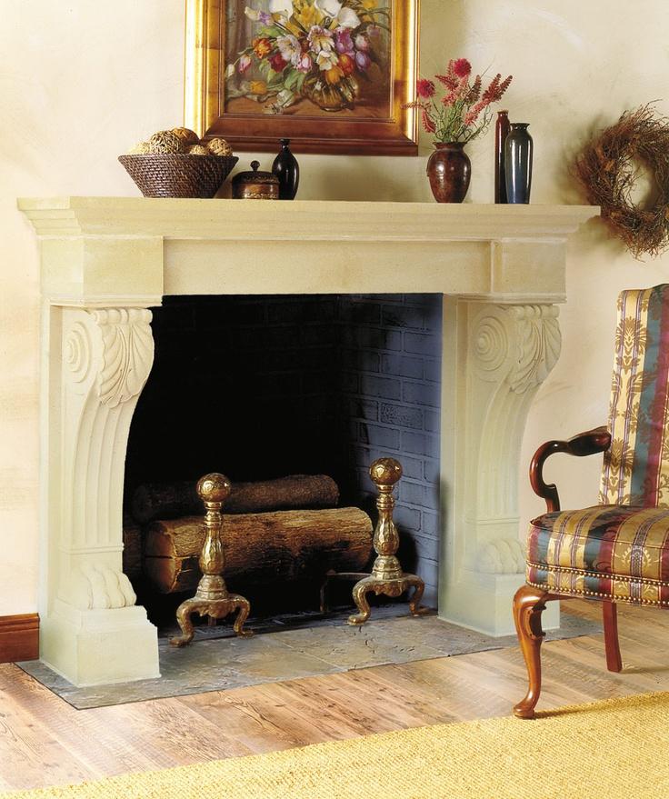 121 best Cast Stone Fireplace Mantels images on Pinterest | Stone ...