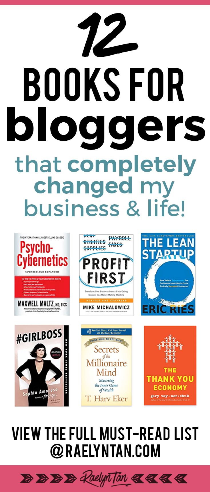 My 12 highly recommended books for bloggers on their blogging and business journey (+ my review)! Learn how to start a successful blog, get helpful business tips and ideas, and more. These books are the best and have literally changed my business and life, so if you have time to spare - please, do read them.