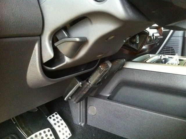 Solid Leather Gun Holster Mounts Anywhere In Your Car