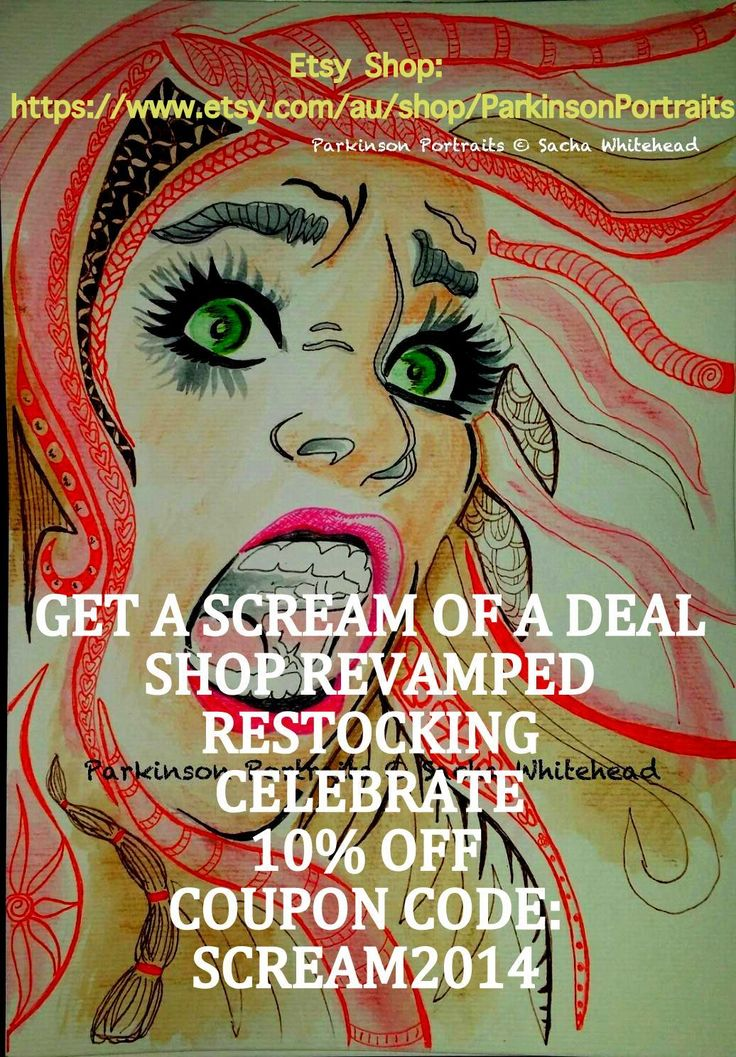 A SCREAM of a deal on my etsy shop. take a look https://www.etsy.com/au/shop/ParkinsonPortraits?ref=hdr_shop_menu