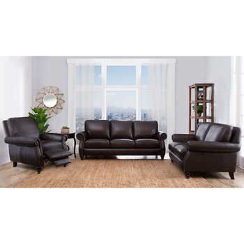 vittoria 3 piece top grain leather set living room ideas grains rh pinterest com