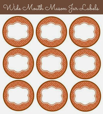 Free Printable: Wide-mouth Mason Jar Labels, Fall Colors