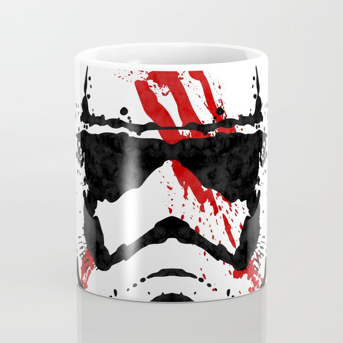 Stormtrooper Ink Blot - Finn Coffee Mug by Graphics by Hand | Society6