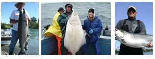 All Alaska Fishing Trips packages include a full day of fishing including Salmon and/or Halibut in both fresh water and saltwater. The boat, crew, fishing equipment and lodging are all included in these packages.