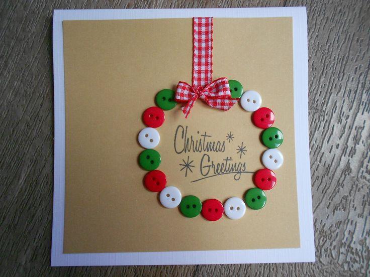 Kerstkaart maken, eenvoudig maar erg leuk!