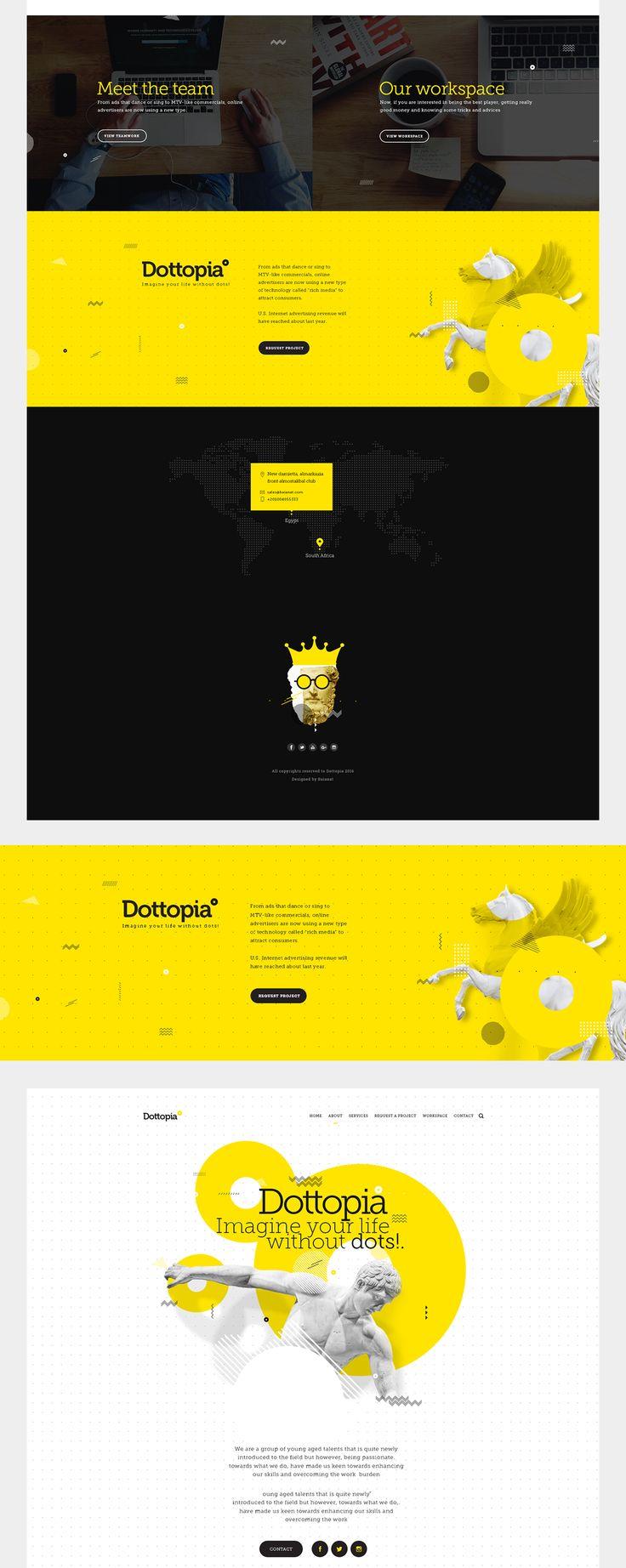 Dottopia web design for graphics services.