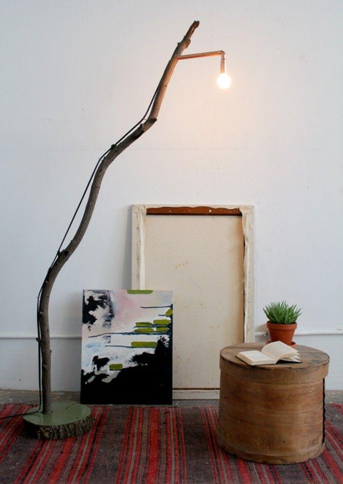 Diy Lampe Zweig Rustikales Design
