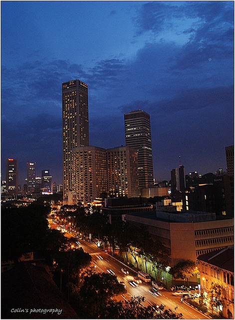 Shaw Towers at Night - Singapore