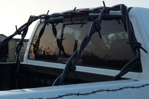 roll bar 300x200 Barbed Wire Grille Guards, Side Steps and Headache Racks For Your Diesel Truck