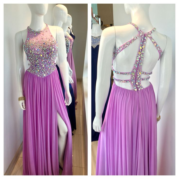 Stunning prom gown with backless design and available in other colours