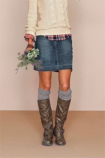 i like this...really dig the top flannel and cardi layer but love the denim…