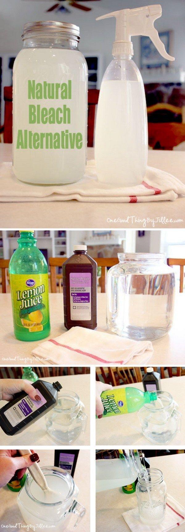 Homemade Cleaner Recipes and Tutorials Homemade bleach